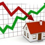 House prices going up and down
