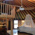 Inside a Yurt cottage